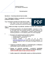 Structura proiect merceologie