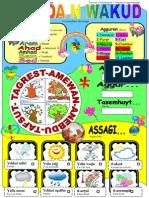 Poster Educatif Amazigh - Calendrier Du Temps