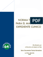 Norma Manejo Expediente Clínico