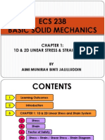 ECS 238 - Chapter 1 (Stress and Strain)