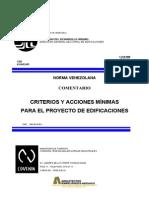 COVENIN 2002-1988 Criterios y Acciones Para Proyectos de Edificaciones. Comentarios