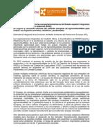 Carta a la Comisión de Medioambiente del parlamento europeo