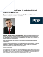 Paul Chehade - Ebola Virus in the United States of America