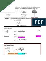 Cylinder Hydraulic Calculation