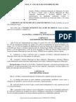 Lei Municipal Nº 1361 de Novembro 2009