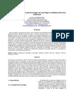 Artículo Auditoría de La Planificación Estratégica Para Una