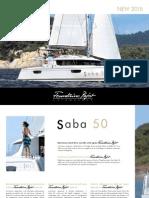 Founataine Pajot Saba 50 Brochure