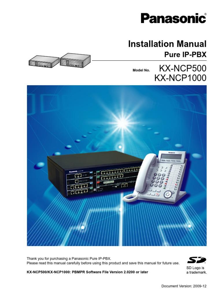 panasonic kx ncp500 1000 installation manual pdf telephone rh scribd com Panasonic.comsupportbycncompass panasonic ncp500 user manual