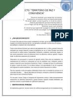 Proyecto Territorio de Paz y Convivencia.- 2015- Final