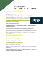 40 Dicas de Direito Administrativo - Trt - Parte