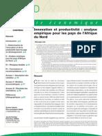 ORNA - Note Économique - Innovation Et Productivité - Afrique Du Nord - 09 2014