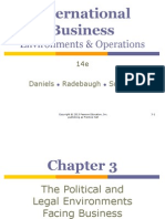 Chapter 3 - The Political and Legal Environment Facing Business