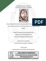 EVALUACION DEL PROCESO DE ALMACENAMIENTO DE LOS MEDICAMENTOS