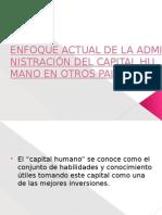 Enfoque Actual de La Administración Del Capital Humano