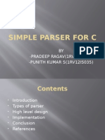 Simple Parser for c