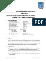 SYLABO Administración II - UDCH Adm.