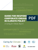 Guide for responsible corporate engagement in climate policy.