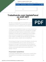 Trabalhando Com UpdatePanel No ASP
