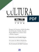 Revista Cultura 77