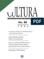 Revista Cultura 80