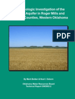 Hydrogeologic Investigation of the Ogallala Aquifer in Roger Mills and Beckham Counties, Western Oklahoma