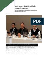 26-01-2015 Excélsior - Puebla Cumple Compromisos de Cuidado Del Medio Ambiente; Semarnat