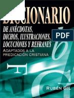 Diccionario de Anecdotas Para La Predicación