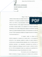 La carta de Pollicita a los diputados K