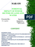 Environmental Impact of Power Sector on Land and Water
