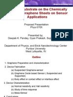 Perdue Graphene Chemically Prepared Graphene Sheets on Sensor Applications