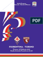 Fiorentina Torino Match Program