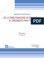 RD de la crisis financiera internacional al crecimiento para todos - Banco Mundial RD.pdf