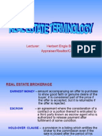 1. Real Estate Terminology