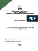 Aplicação Do Modelo Hidrodinâmico No Estuário Do Rio Caeté