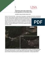 Deslizamiento pared oeste Volcán Irazú