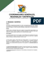 Funciones de Coordinadores Regionales y Distritales