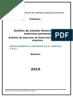 Analisis de Estados Financieros -Estructura de Deuda Cementos Lima