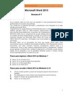 Manual de Microsoft Word 2013