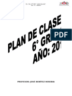 PLAN DE CLASE - 6° 2012