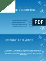 TIPOS de CONCRETOS y Tipos de Concreto