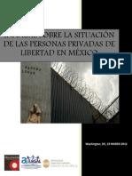 Informe sobre la situación de las personas privdas de su libertad en México