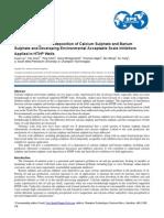 Calcium Sulphate and Barium Sulphate SPE-156013-MS-P