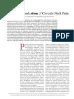 Radiologic Evaluation of Chronic Neck Pain