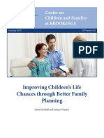 Improving Children's Life Chances through Better Family Planning
