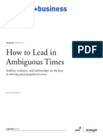 How to Lead in Ambiguous Times