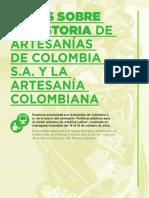 Notas sobre la historia de Artesanías de Colombia S.A. y la artesanías en colombiana