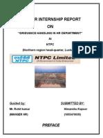 100908469 NTPC Project Report