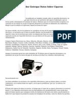 La Cofepris Va a deber Entregar Datos Sobre Cigarros Electronicos