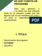 Partes de Un Programa