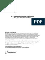 ap 2012 english literature free response qs + scoring guidelines